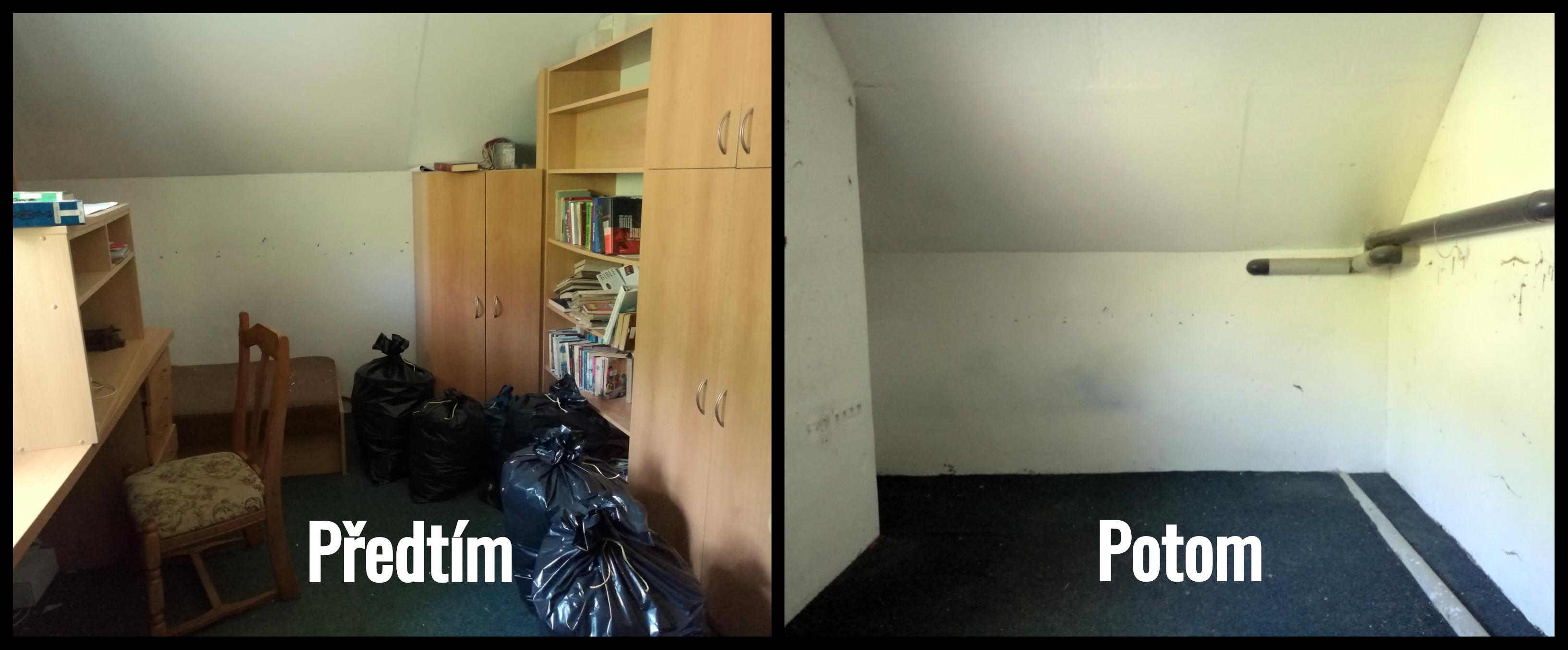 Vyklízení objektů - předtím a potom